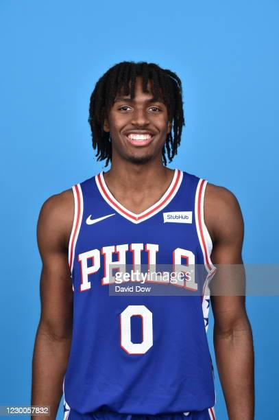 Tyrese Maxey of the Philadelphia 76ers poses for a head shot during NBA Content Day on December 10, 2020 at the Philadelphia 76ers Training Complex...
