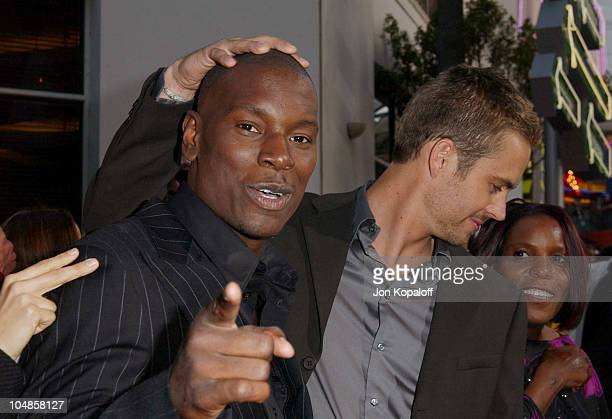 Tyrese Paul Walker during The World Premiere of 2 Fast 2 Furious at Universal Amphitheatre in Universal City California United States