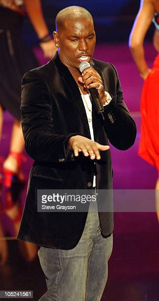 Tyrese perfoms 'How you Gonna Act Like That' during 9th Annual Soul Train Lady of Soul Awards Show in Pasadena California United States
