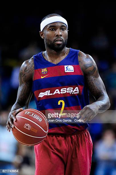 Tyrese Rice of FC Barcelona Lassa with the ball during the basketball Spanish Endesa League match between FC Barcelona Lassa and Real Madrid on...