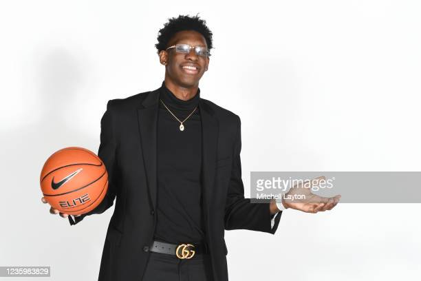 Tyrese Samuel of the Seton Hall Pirates poses for a photo during the Big East Media Day at Madison Square Garden on October 19, 2021 in New York City.
