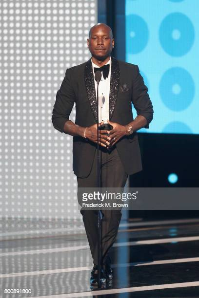 Tyrese speaks onstage at 2017 BET Awards at Microsoft Theater on June 25 2017 in Los Angeles California