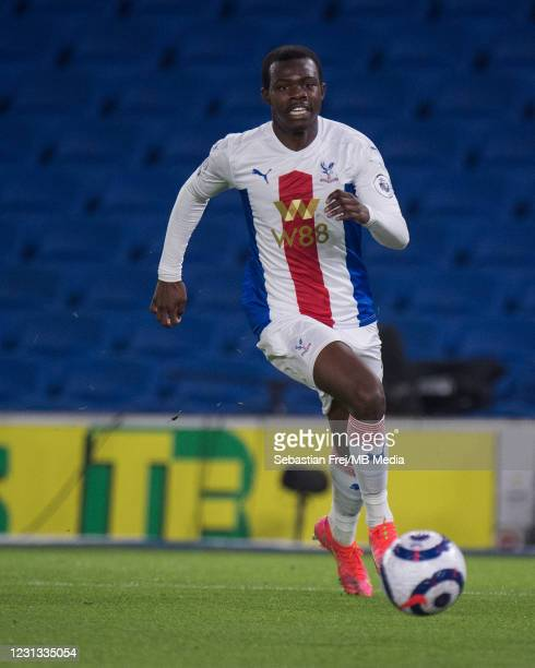 Tyrick Mitchell of Crystal Palace during the Premier League match between Brighton & Hove Albion and Crystal Palace at American Express Community...