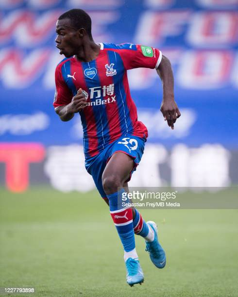 Tyrick Mitchell of Crystal Palace runs during the Premier League match between Crystal Palace and Tottenham Hotspur at Selhurst Park on July 26 2020...