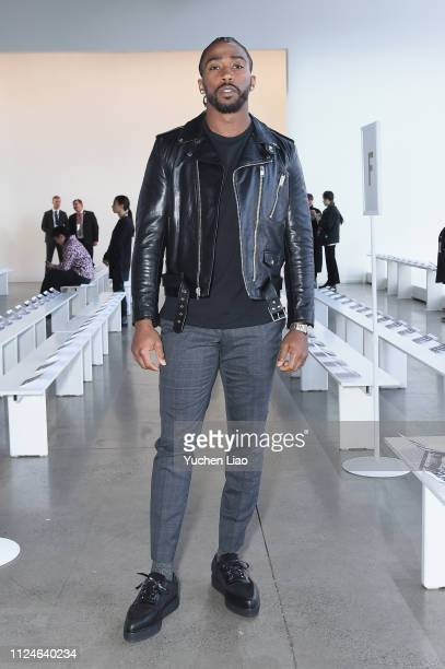 Tyrod Taylor attends the Calvin Luo front row during New York Fashion Week: The Shows at Gallery I at Spring Studios on February 13, 2019 in New York...