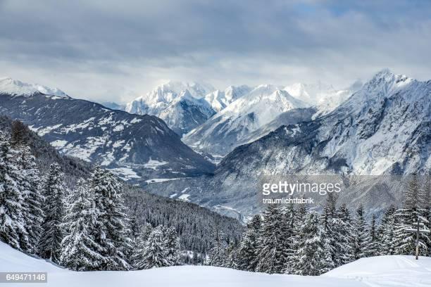 Tyrolean Alps snow peaks