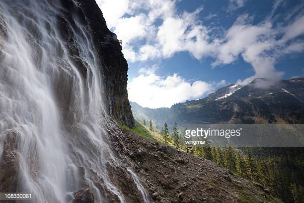 tyrolean cascade captured by long time exposure