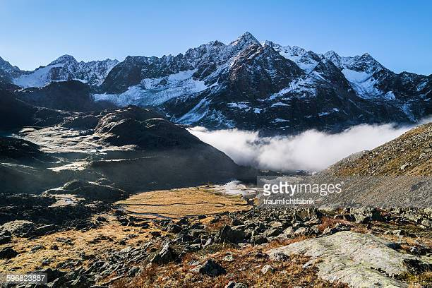 tyrolean mountains - laengenfeld stock pictures, royalty-free photos & images