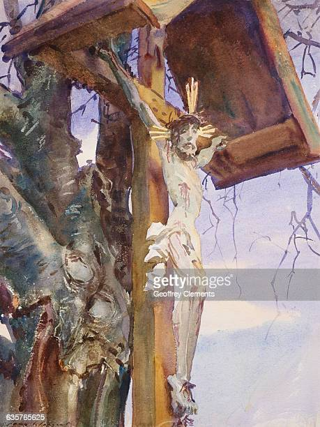 Tyrolese Crucifix by John Singer Sargent