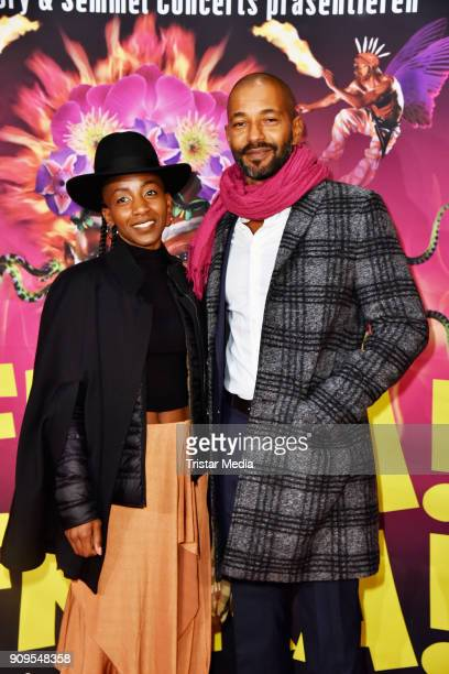 Tyron Ricketts and guest attend the Afrika Afrika 2018 Show Premiere on January 23 2018 in Berlin Germany