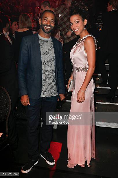 Tyron Ricketts and Marva Schreiber attend the 99FireFilmAward 2016 at Admiralspalast on February 18 2016 in Berlin Germany