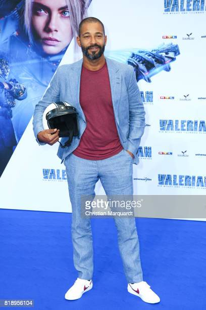 Tyron Ricketts attends the German premiere of the 'Valerian Die Stadt der Tausend Planeten' at CineStar on July 19 2017 in Berlin Germany