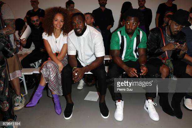 Tyron Taylor Kam Chancellor and his wife Tiffany Luce attend the OAMC Menswear Spring/Summer 2019 show as part of Paris Fashion Week on June 20 2018...