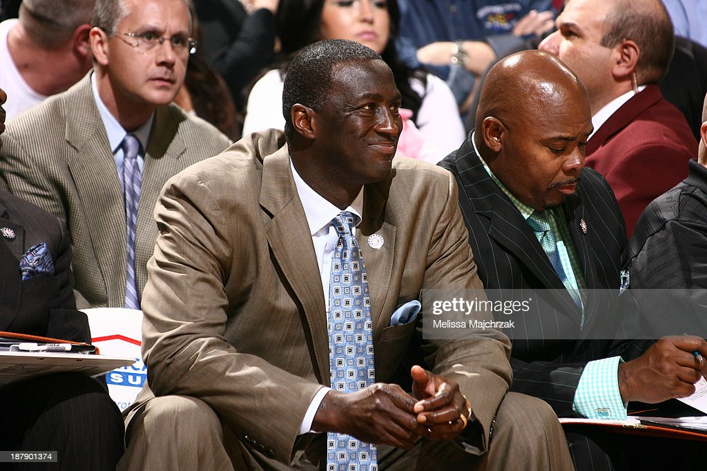 Tyrone Corbin, Head Coach of the Utah Jazz reacts from the bench during play against the Denver Nuggets at EnergySolutions Arena on November 11, 2013 in Salt Lake City, Utah.