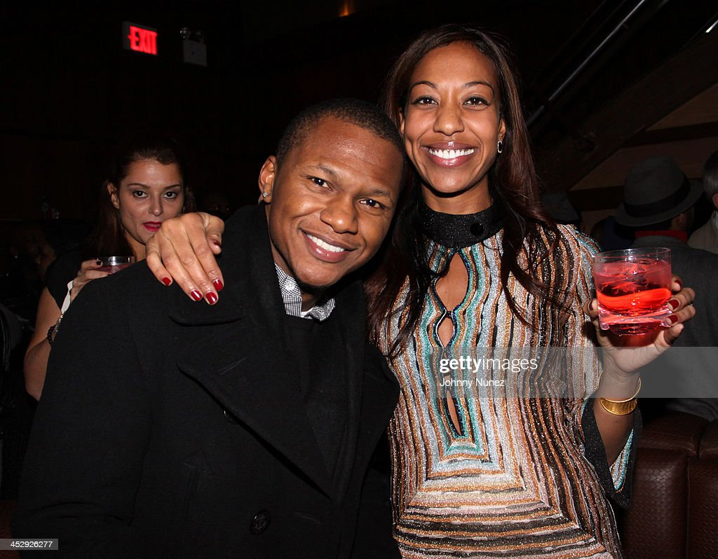 Tyrone Davis and Sari Baez attend Sari Baez's Birthday celebration at Marquee on November 30, 2009 in New York City.