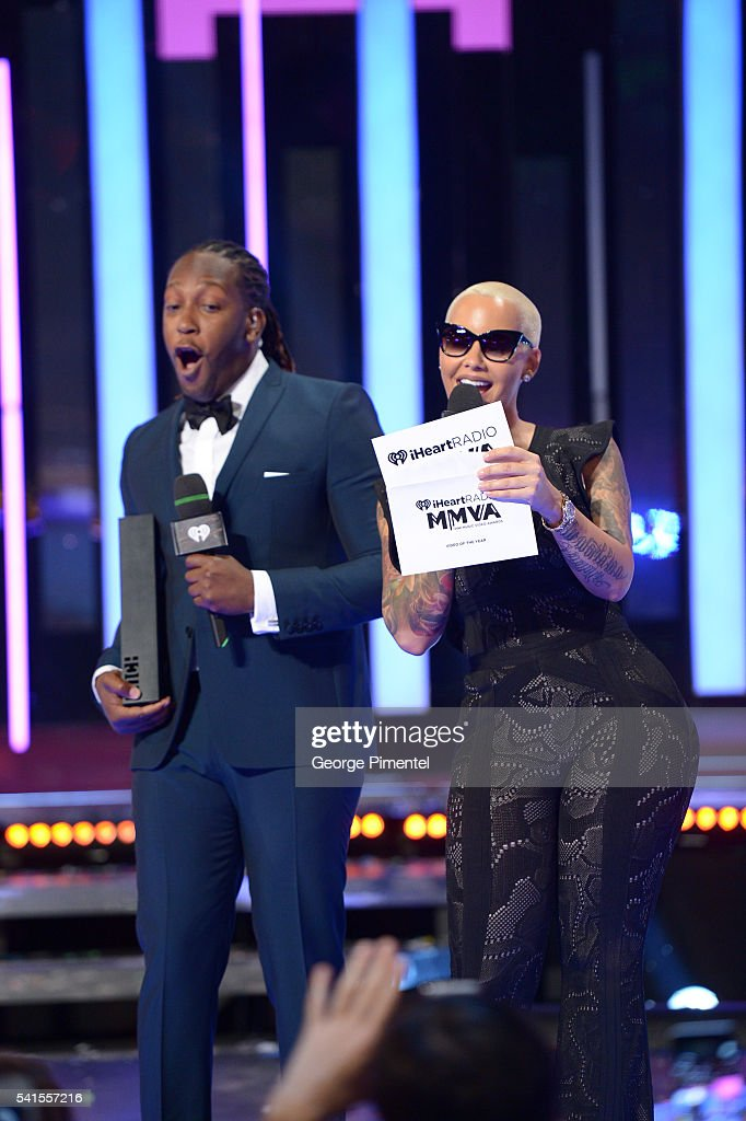 Tyrone Edwards and Amber Rose present at the 2016 iHeartRADIO MuchMusic Video Awards at MuchMusic HQ on June 19, 2016 in Toronto, Canada.