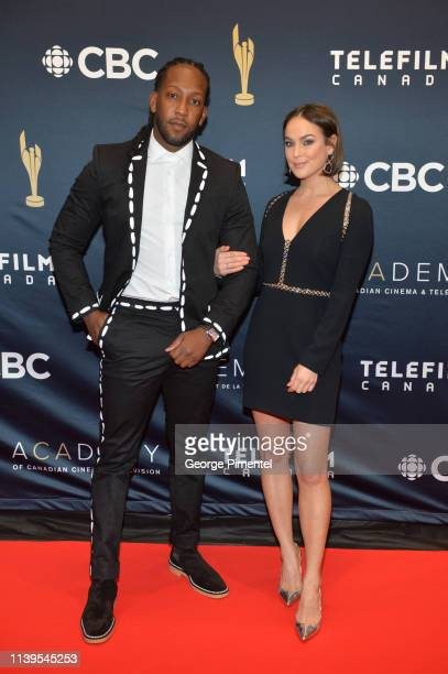 Tyrone Edwards and Chloe Wilde attend the 2019 Canadian Screen Awards Broadcast Gala at Sony Centre for the Performing Arts on March 31 2019 in...
