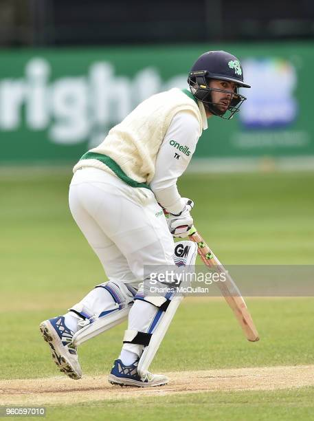 Tyrone Kane of Ireland during the fifth day of the international test cricket match between Ireland and Pakistan on May 15 2018 in Malahide Ireland