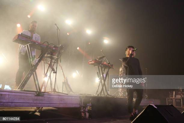 Tyrone Lindqvist Jon George and James Hunt of Rufus performs at Body Soul Festival at Ballinlough Castle on June 25 2017 in Co Westmeath Ireland