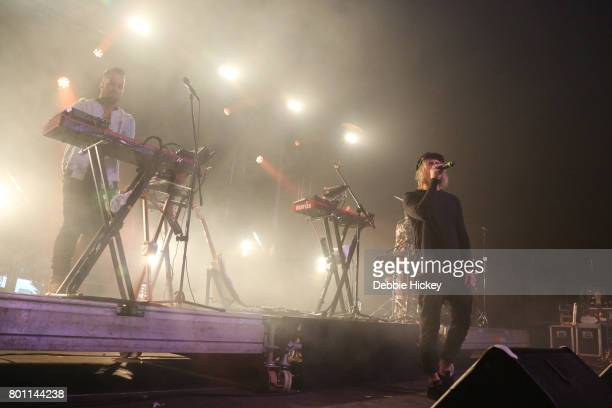 Tyrone Lindqvist Jon George James Hunt of Rufus performs at Body Soul Festival at Ballinlough Castle on June 25 2017 in Co Westmeath Ireland