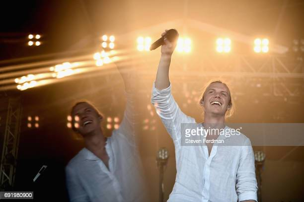 Tyrone Lindqvist of Rufus Du Sol performs onstage during the 2017 Governors Ball Music Festival - Day 2 at Randall's Island on June 3, 2017 in New...