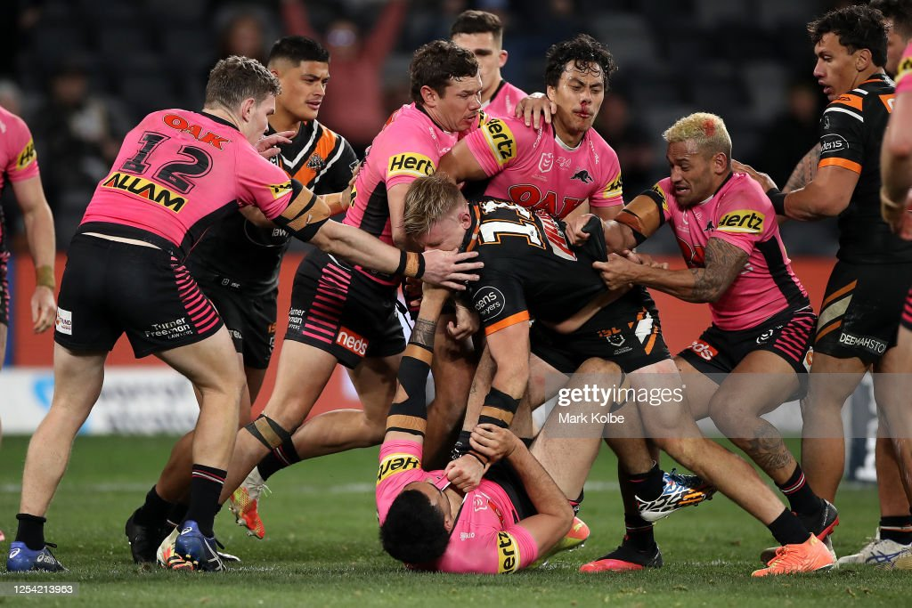 NRL Rd 8 - Tigers v Panthers : News Photo