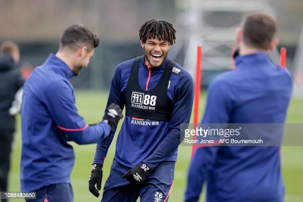 Tyrone Mings of AFC Bournemouth during a training session at Vitality Stadium on January 25 2019 in Bournemouth England