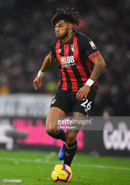 Tyrone Mings of AFC Bournemouth in action during the Premier League match between Wolverhampton Wanderers and AFC Bournemouth at Molineux on December...