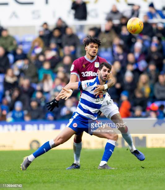 Tyrone Mings of Aston Villa scores for Aston Villa during the Sky Bet Championship between Reading and Aston Villa at Madejski Stadium on February 02...