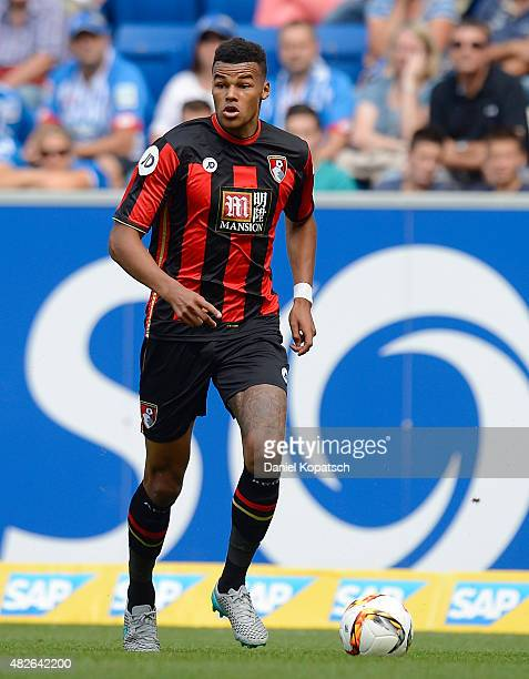 Tyrone Mings of Bournemouth controls the ball during the friendly match between 1899 Hoffenheim and AFC Bournemouth at Wirsol RheinNeckarArena on...