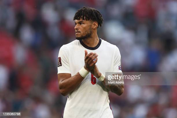 Tyrone Mings of England during the 2022 FIFA World Cup Qualifier between England and Andorra at Wembley Stadium on September 5, 2021 in London,...