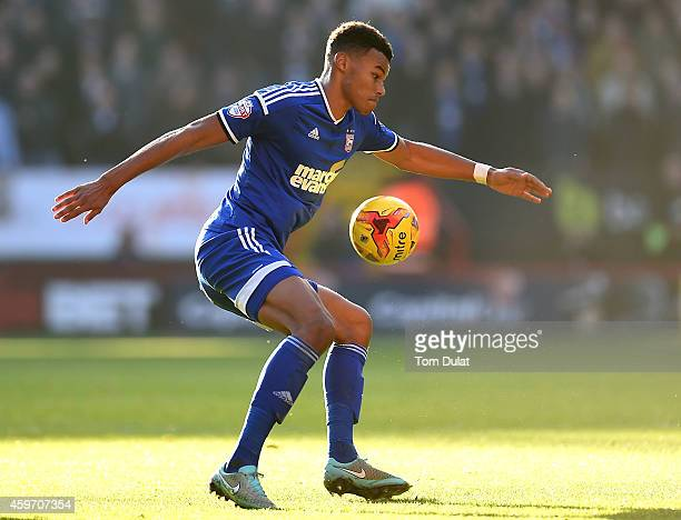 Tyrone Mings of Ipswich Town in action during the Sky Bet Championship match between Charlton Athletic and Ipswich Town at The Valley on November 29...