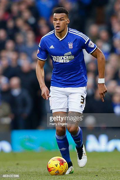 Tyrone Mings of Ipswich Town in action during the Sky Bet Championship match between Fulham and Ipswich Town at Craven Cottage on February 14 2015 in...