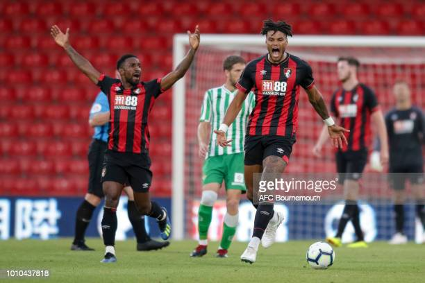 Tyrone Mings of Real Betis during preseason friendly between AFC Bournemouth and Real Betis at Vitality Stadium on August 3 2018 in Bournemouth...