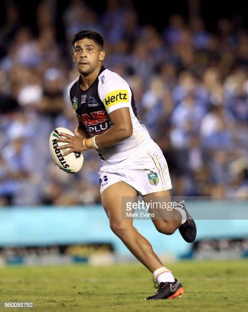 Tyrone Peachey of the Panthers runs the ball during the round seven NRL match between the Cronulla Sharks and the Penrith Panthers at Southern Cross...