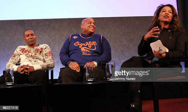 Tyrone Proctor Big Bank Hank and Danyel Smith attend the VH1 Rock Docs screening of Soul Train The Hippest Trip In America at The Paley Center for...
