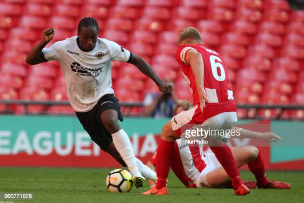 Tyrone Sterling of Bromley during The Buildbase FA Trophy Final match between Brackley Town and Bromley at Wembley London England on 20 May 2018