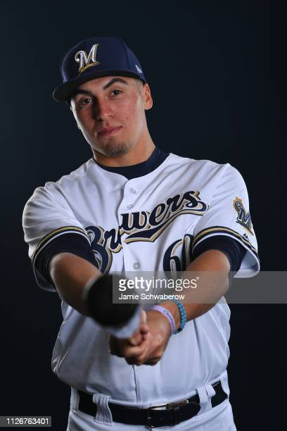 Tyrone Taylor of the Milwaukee Brewers poses during the Brewers Photo Day on February 22 2019 in Maryvale Arizona