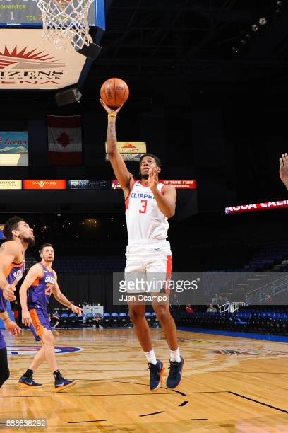 Tyrone Wallace of the Northern Arizona Suns shoots the ball against the Agua Caliente Clippers on December 8 2017 at Citizens Business Bank Arena in...