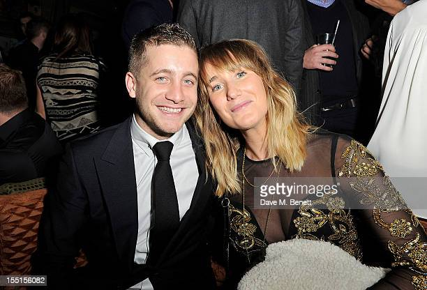 Tyrone Wood and guest celebrate at the Party After The Barclaycard Mercury Prize At The Box Soho on November 1 2012 in London England