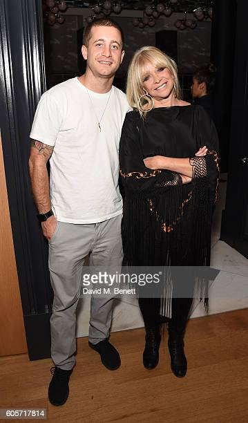 Tyrone Wood and Jo Wood attend a VIP dinner hosted by chef Gizzi Erskine to celebrate her brand new book 'Gizzi's Season's Eatings' at Holborn Dining...