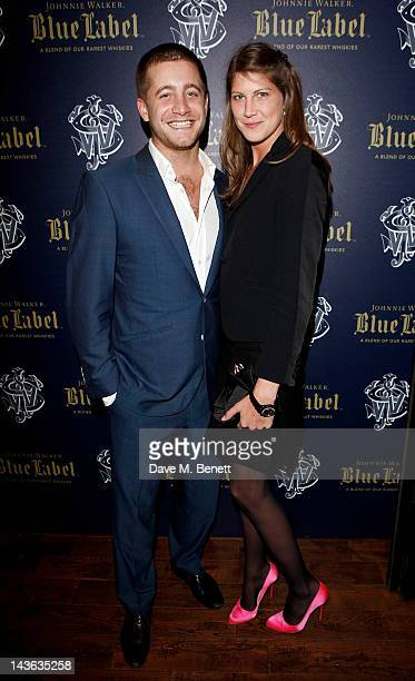 Tyrone Wood and Princess Florence Von Preussen attend the official launch of the Johnnie Walker Blue Label Club at The Scotch Mason's Yard on May 1...