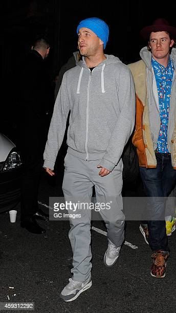Tyrone Wood arrives at Mark's Member's Club for AnOther Man Party on November 20 2014 in London England