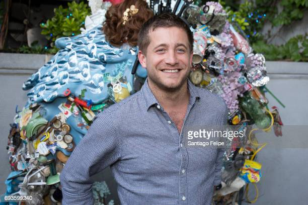 Tyrone Wood celebrates World Oceans Day Eve with Project 0 in honor of the La Mer Wave Walk in Support of Project 0 at The James Hotel on June 7 2017...