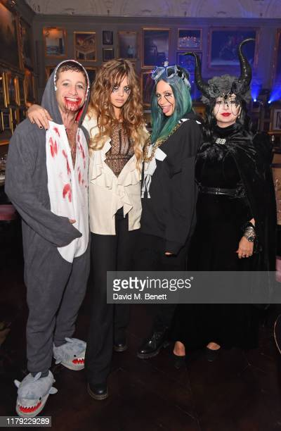Tyrone Wood, Jessica Clarke, Poppy Delevingne and Fran Cutler attend The Cursed Voyage of HMS Berners in collaboration with Project 0 and Grey Goose...