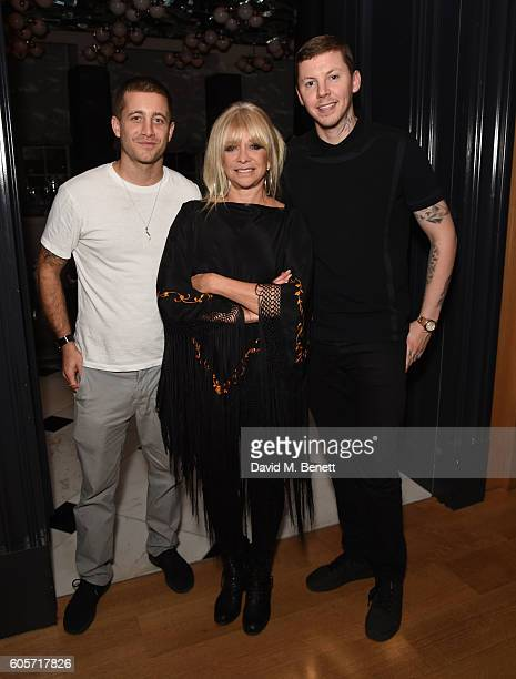 Tyrone Wood Jo Wood and Stephen Manderson attend a VIP dinner hosted by chef Gizzi Erskine to celebrate her brand new book 'Gizzi's Season's Eatings'...