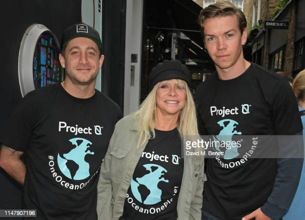 Tyrone Wood Jo Wood and Will Poulter attend the unveiling of ocean conservation group Project 0's 'One Ocean One Planet' globe installation on...