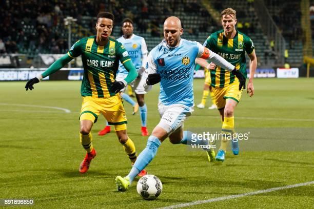 Tyronne Ebuehi of ADO Den Haag, Dani Schahin of Roda JC during the Dutch Eredivisie match between ADO Den Haag and Roda JC Kerkrade at Cars Jeans...