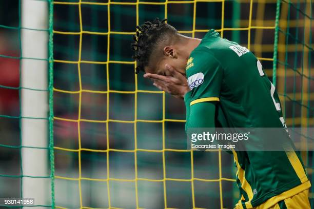 Tyronne Ebuehi of ADO Den Haag during the Dutch Eredivisie match between ADO Den Haag v NAC Breda at the Cars Jeans Stadium on March 10 2018 in Den...
