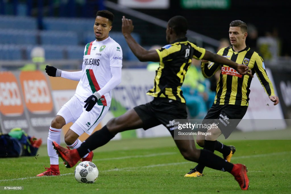 Tyronne Ebuehi Of Ado Den Haag Lassana Faye Of Vitesse During The News Photo Getty Images